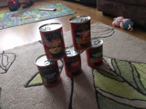 A soup tower