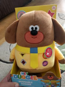 Large Hey Duggee soft toy in box