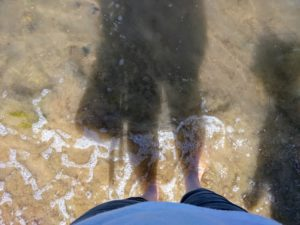 Feet in sea water #LetTheAdventureBegin