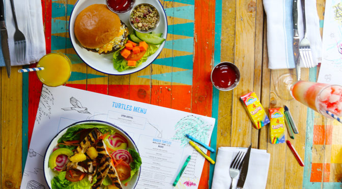 KIDS EAT FREE THIS HALF TERM AT TURTLE BAY!