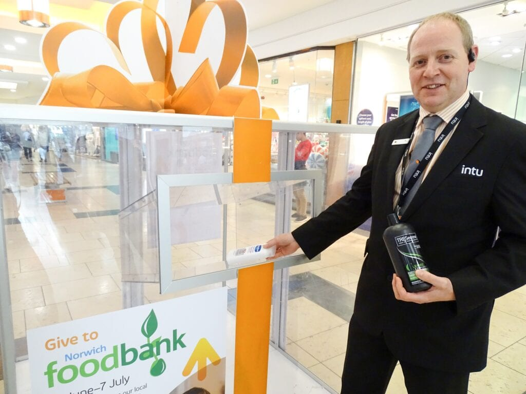 The Norwich Foodbank donation station is at intu Chapelfield 16 June to 7 July 2019