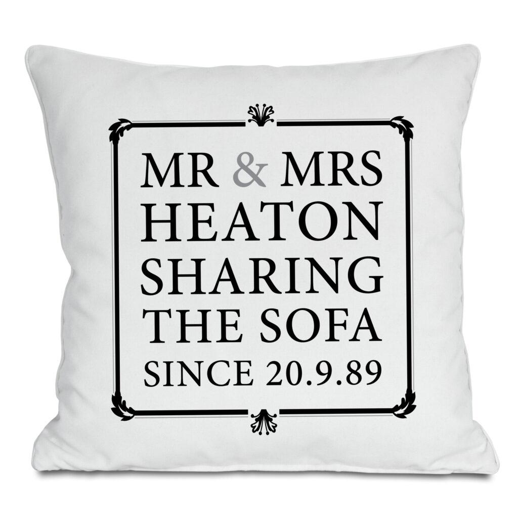 Sharing The Sofa High Res Cushion