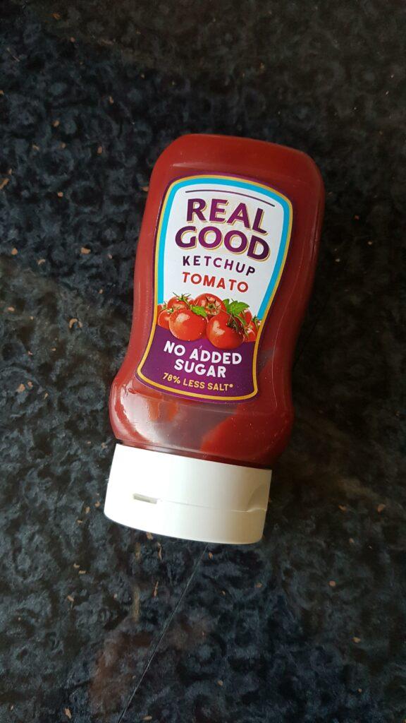 Healthier snacks real good ketchup