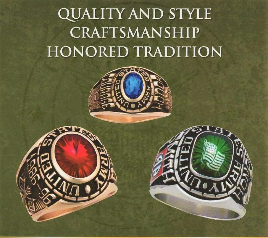 us military rings