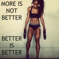 more exercise is not better
