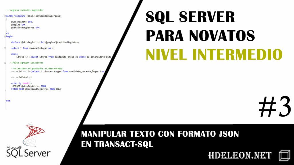 Sql Server Nivel Intermedio Manipular Texto Con Formato