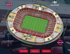 vFloorplan 3D Stadium - Club and Box Levels