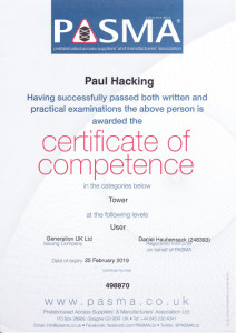 Pasma Certificate Of Competence