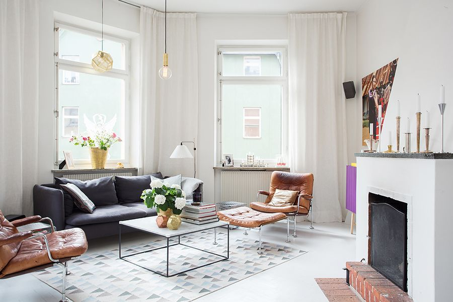 rustic-styled-fireplace-in-the-scandinavian-apartment