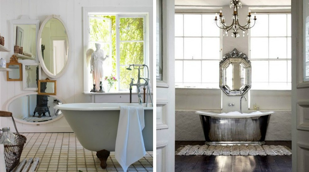 pretty shabby chic style bathroom