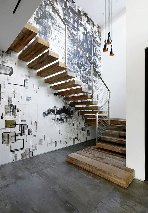 Floating loft stairs