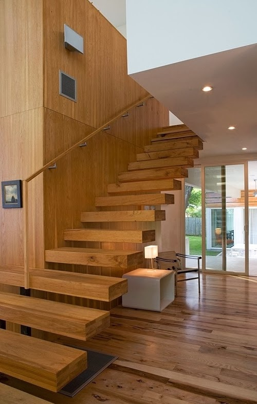 all wood staircase