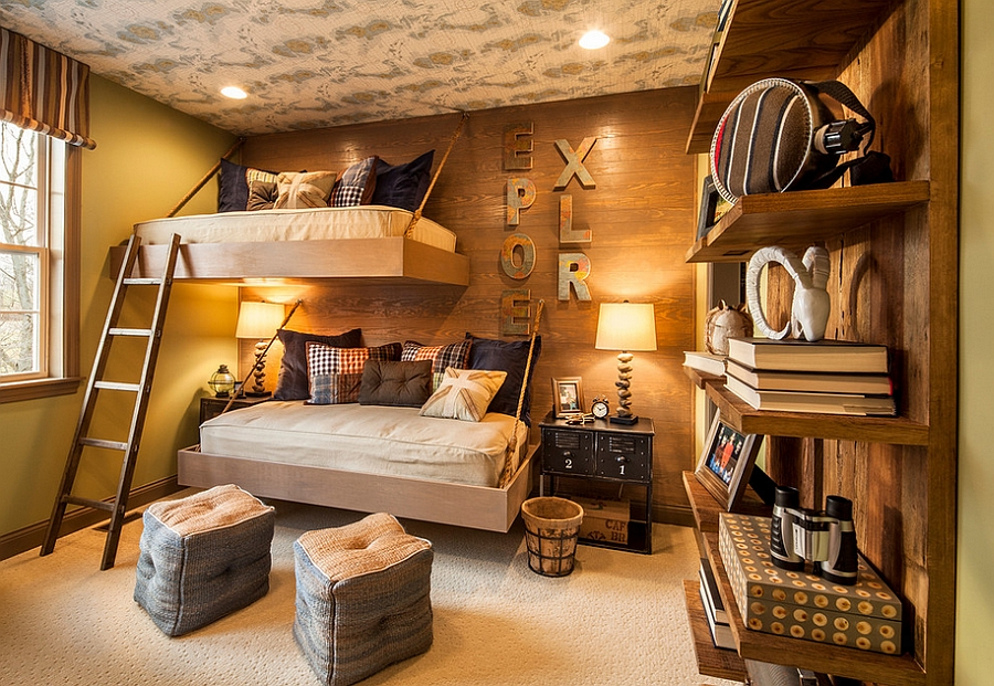 Space saving beds and brilliant lighting