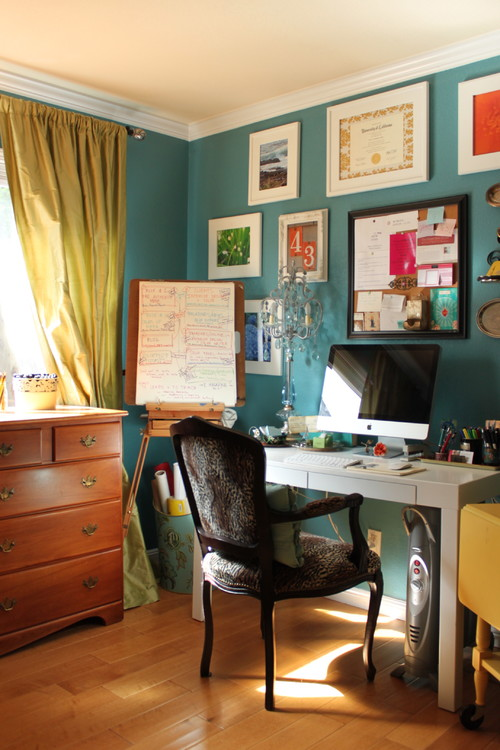 Best Eclectic Home Office Design in Small Room