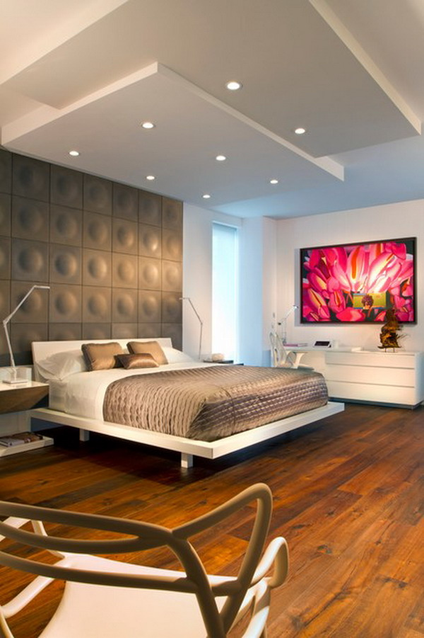 Contemporary Bedroom Ideas with White Bed Furniture