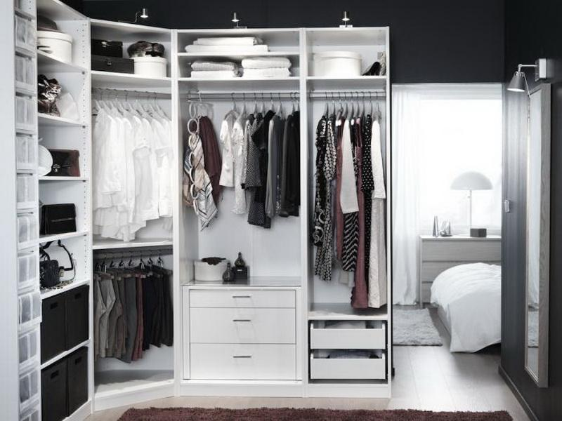 Exclusive Small White IKEA Pax Closet System For Modern Bedroom Design Ideas