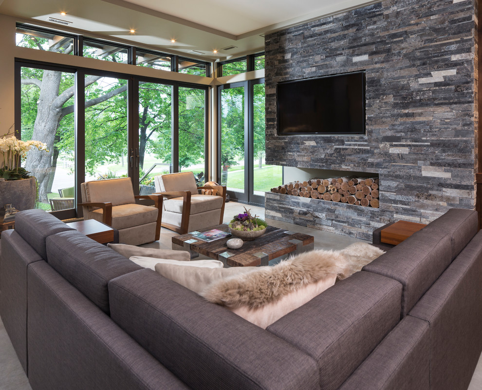 Living Room with Contemporary Furniture