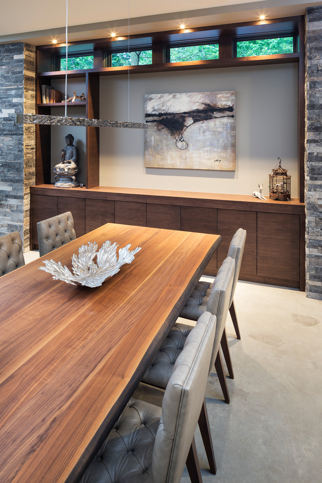 Modern Dining Table With Contemporary Chairs