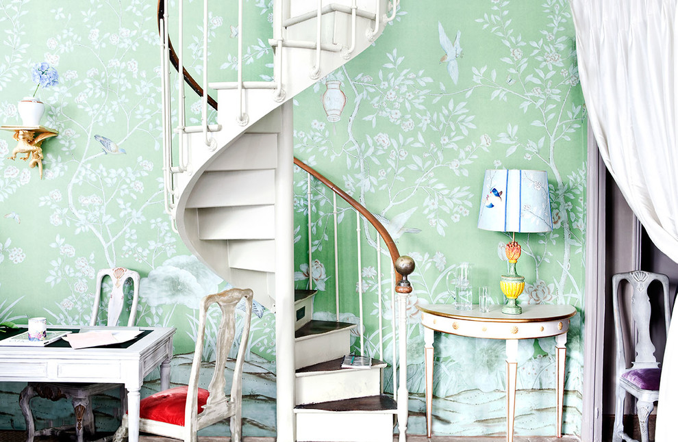 Shabby-Chic Style Staircase Design