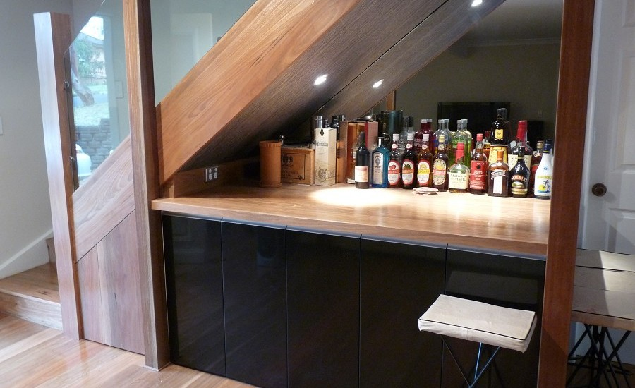 Small bar under the stairs