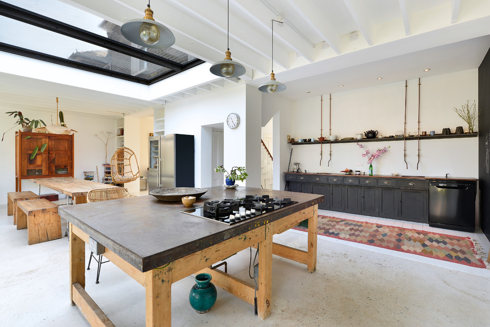 Eclectic Kitchen With Dine In Dwellingdecor