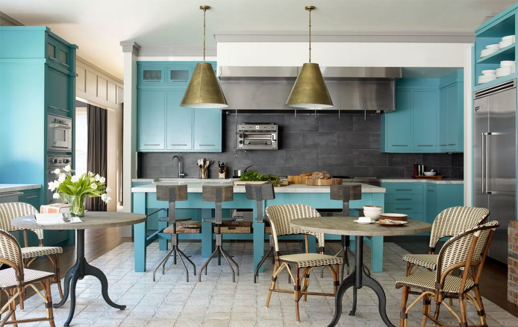 Blue Kitchen Island Dwellingdecor