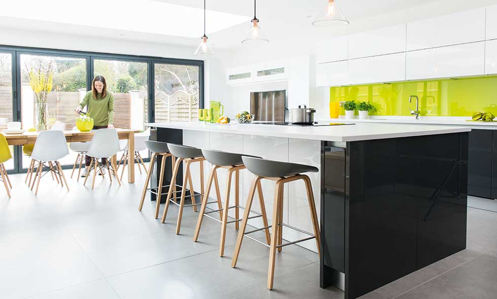 Contemporary Citrus Kitchen Dwellingdecor