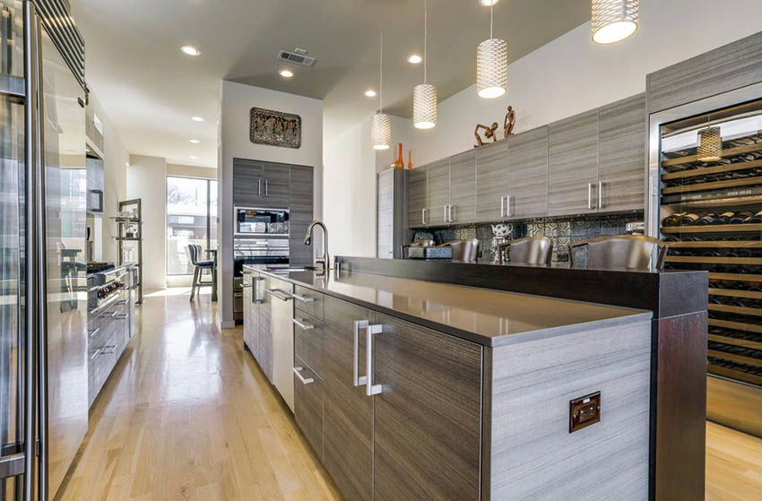 Contemporary kitchen with laminated cabinets Dwellingdecor