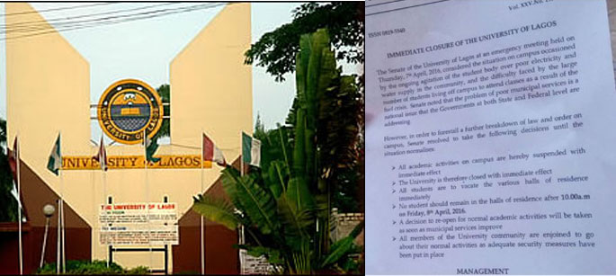 Photo of University of Lagos State Shut Down Indefinately