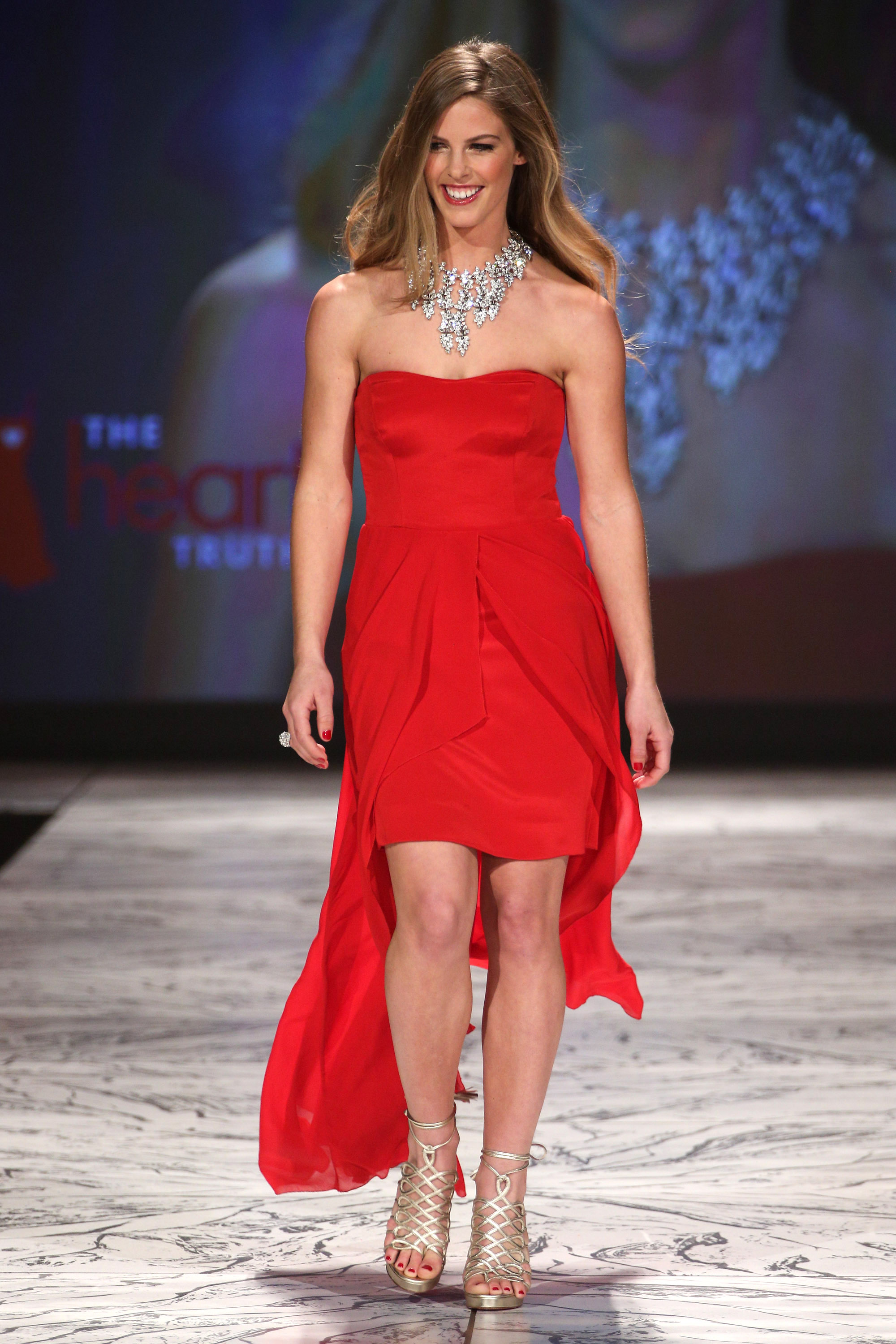 NEW YORK, NY - FEBRUARY 06: Torah Bright wearing Nicole Miller walks the runway at The Heart Truth's Red Dress Collection during Fall 2013 Mercedes-Benz Fashion Week at Hammerstein Ballroom on February 6, 2013 in New York City. (Photo by Thomas Concordia/WireImage)