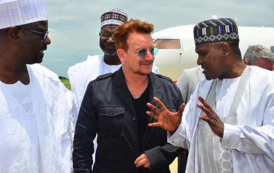 Photo of Aliko Dangote and Irish Musician Bono Pay Official Visit to Maiduguri