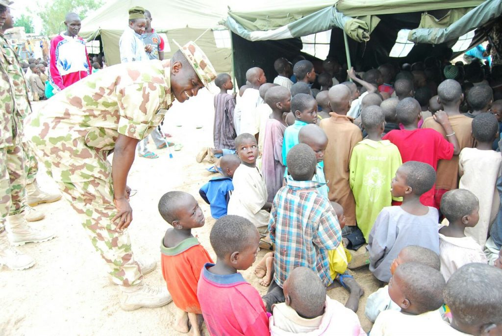 Photo of New School Established by Troops in Bama IDP Camp