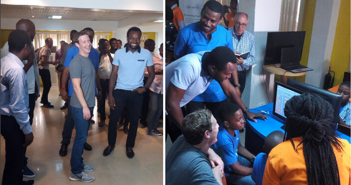 Photo of Facebook Founder, Mark Zuckerberg in Lagos