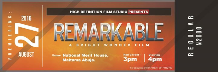 Photo of Movie Premiere of 'Remarkable' Starring Daniel K Daniel, Tope Tedela, Titi Joseph