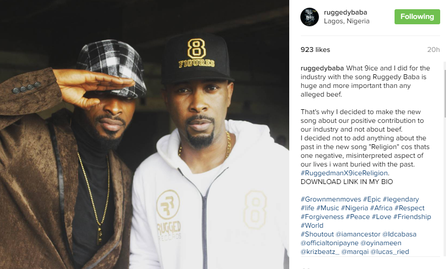Photo of Ruggedman and 9ice Have Reportedly Burned Their Beef (Photos
