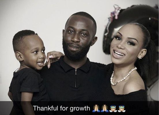 Photo of Ex-Governor Ikedi Ohakim's Son, Obia and Wife Show off Baby Bump
