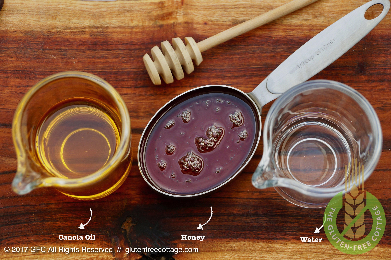 Wet ingredients (gluten-free granola cookies).