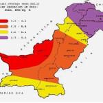 Solar Radiation Map of Pakistan