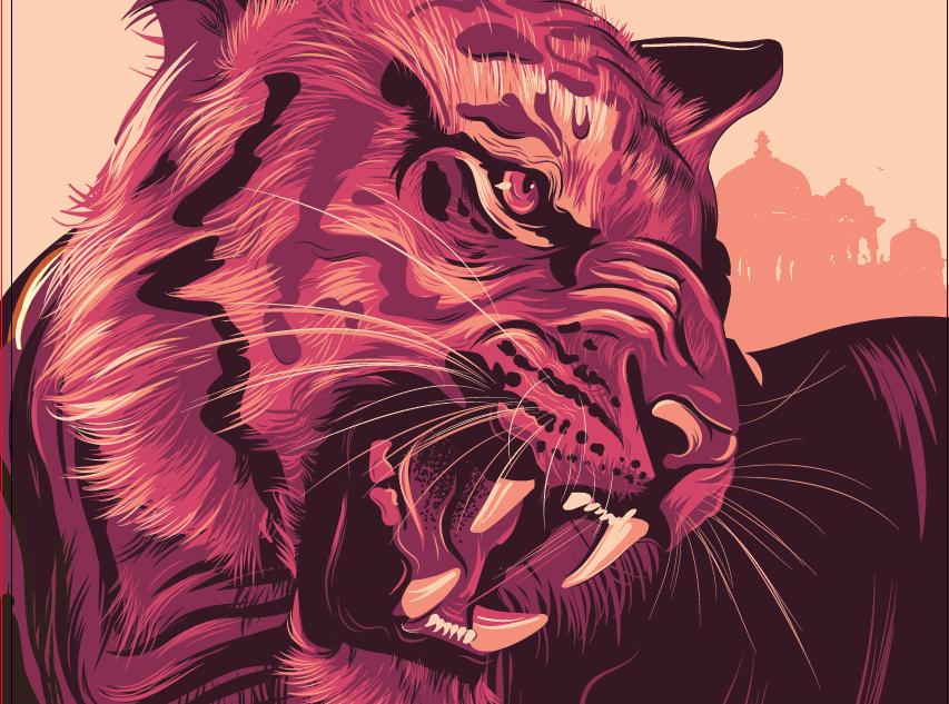 WWF Tiger illustration Poster