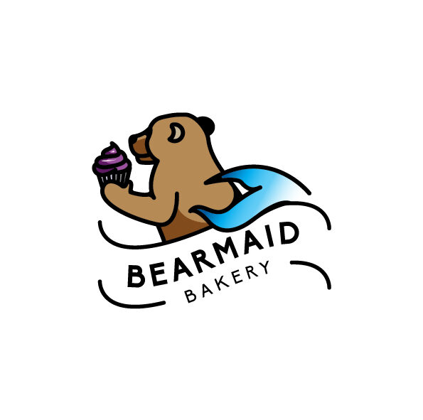 Bearmaid Bakery Custom Logo Design
