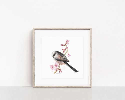 Long-Tailed-Tit-Art Painting