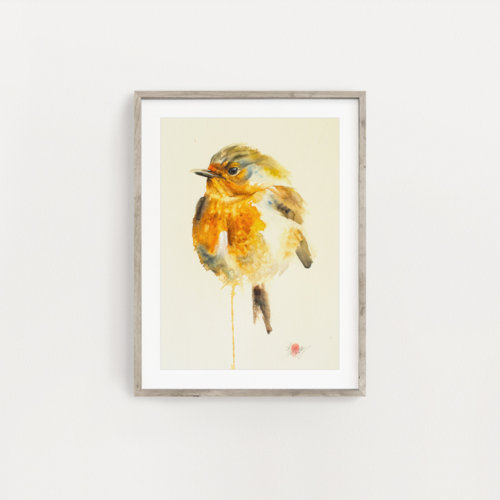 Original Robin Bird Painting