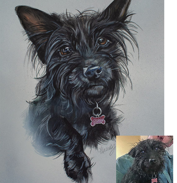 Painting of a Pet Dog Commission