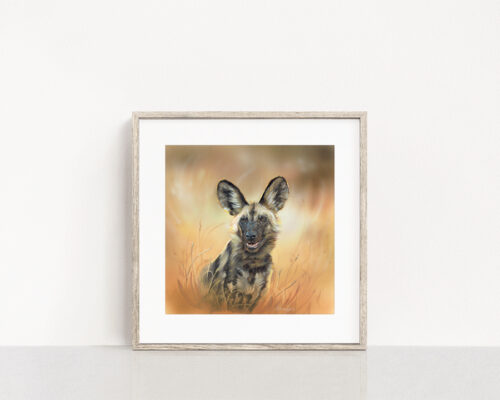 Painted Dog Wildlife Art Print