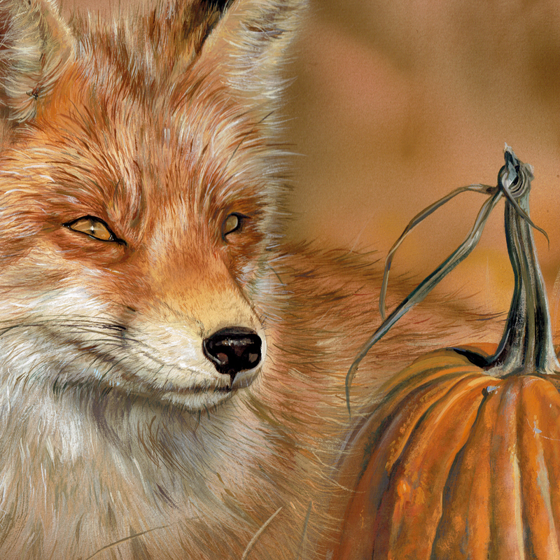 Red Fox Wildlife Painting