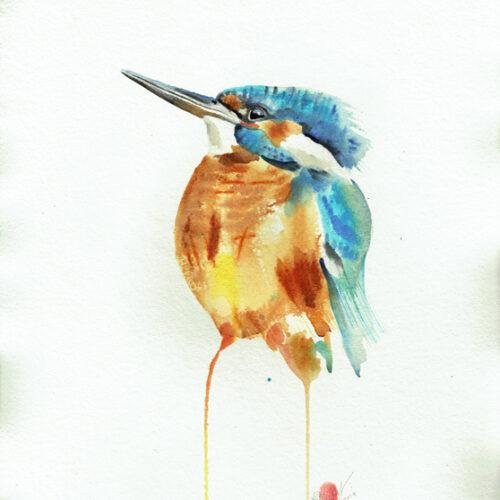 Kingfisher Watercolour Painting