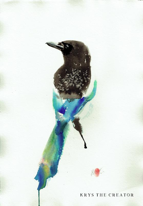 Magpie Original Artwork For Sale