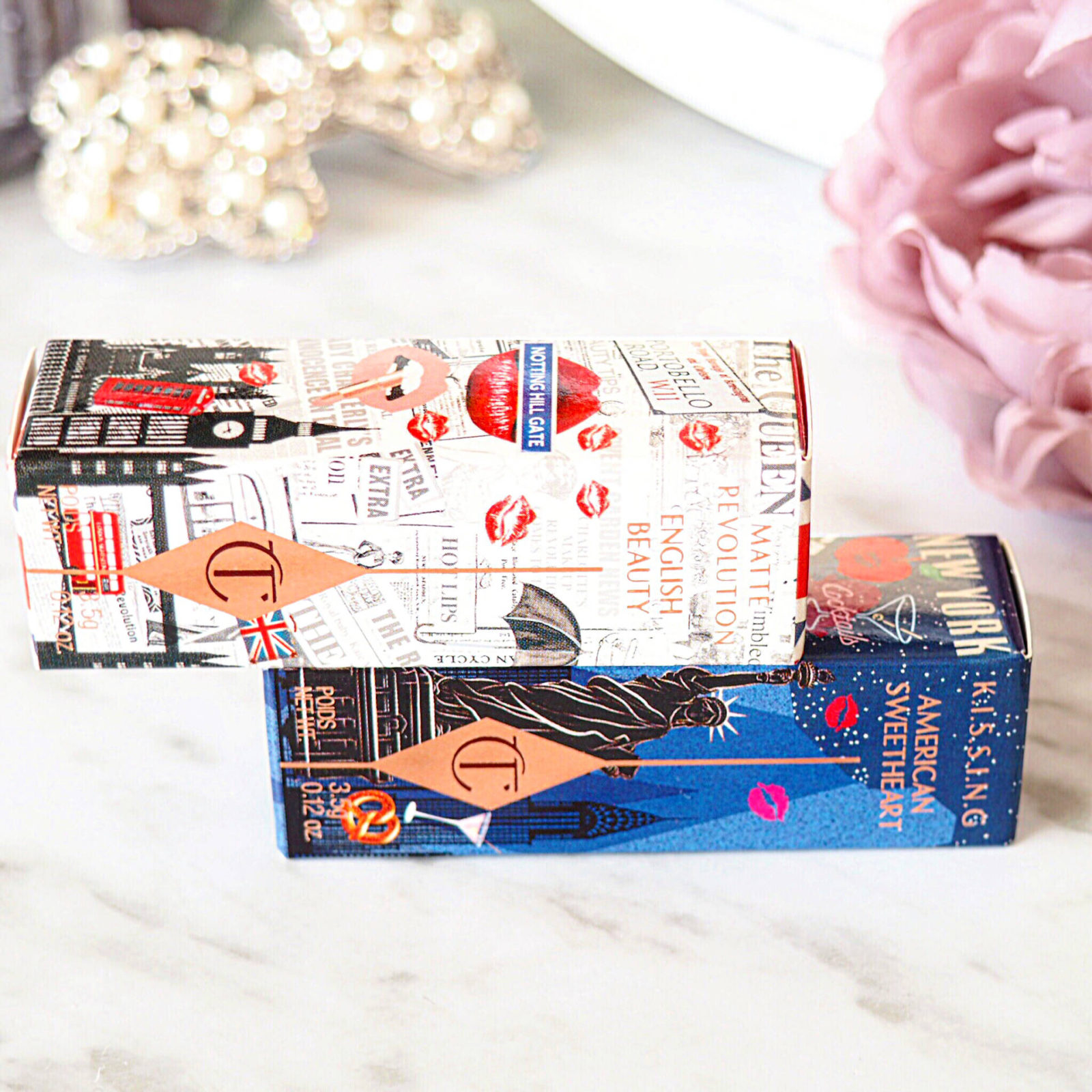 Charlotte Tilbury English Beauty and American Sweetheart Lipsticks