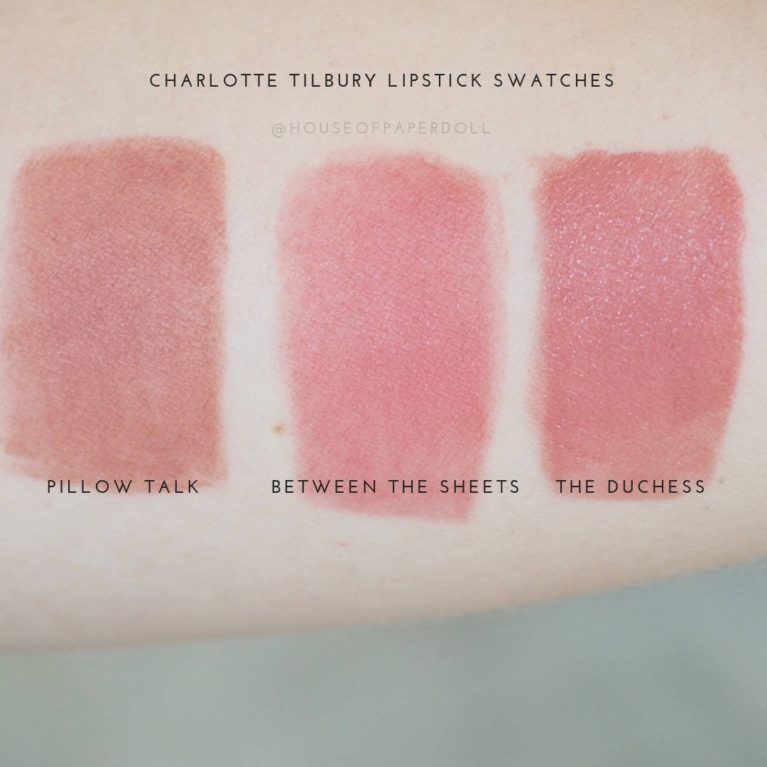 charlotte tilbury lipstick swatches Between The Sheets
