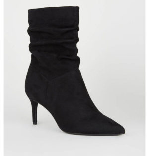New Look Black Slouchy Heeled Boots